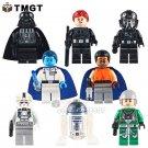 8PCS/LOT SY637 Darth Vader TIE Fighter Pilot Grand Admiral
