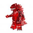 Red Lava Transparent Godzilla Monster Minifigure Toys