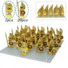 21pcs/set Aztec Warrior Medieval Egyptian Fit Lego Minifigures