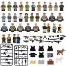 34pcs Military Soldiers Army SWAT With Weapon Guns
