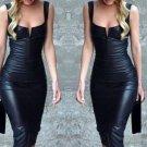 Summer Fashion Women Bandage Dress Ladies Sleeveless Black Short Dress Fashion Women Clothing