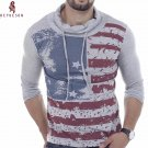 HEYKESON Men T-Shirt 2017 Men'S Fashion Sling High Collar T Shirt Long Sleeve Shirt Men