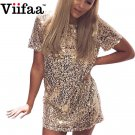 Viifaa Sequins Gold Dress  Short Dress Evening Party Elegant Club Dresses