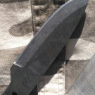 """Damascus steel 10"""" long hand forged blank blade 4.5"""" cutting edge, 3 screw holes"""