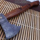 Damascus steel tomahawk Axe bearded hiking battle axe14.5 Inches long Hand Forge