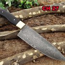 "10"" long Damascus Steel kitchen Knife full tang 5.5"" long Hand Forged blade"