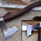 "Bearded hiking battle axe 15"" long Hand Forg High carbon steel tomahawk Axe"