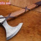 Tomahawk Godzilla Axe, Hunting Axe, hiking battle axe Rose wood scale