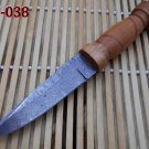 Hand Forged custom made Rain drop patren Damascus steel 10.5 Inches Knife with 5