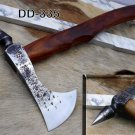 Tomahawk Axe bearded hiking battle axe, High carbon steel, Rose wood scale