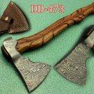 "20"" Long Tomahawk Axe, Hunting Axe, hiking battle axe Engraved Rose wood"