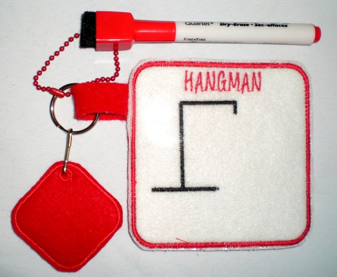 Hangman Machine Embroidery Design