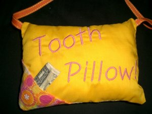 Tooth Pillow Machine Emboidery Design