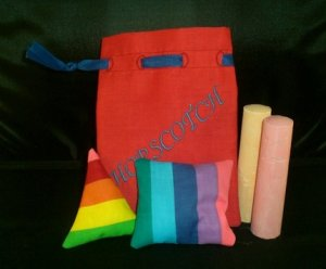 Hopscotch Bag with Beanbags Machine Embroidery Design
