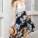 Size L White Lace Top Floral Maxi Dress