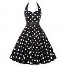 Size XL Black Fashion Sleeveless Vintage 1950s Women Dress
