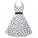 Size L White Fashion Sleeveless Vintage 1950s Women Dress