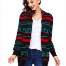 Size L Black Winter Cardigan Jacket large size sweater long sleeve loose women's Christmas sweater