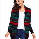 Size XXL Black Winter Cardigan Jacket large size sweater long sleeve loose women's Christmas sweater