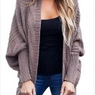 Size XL Brown Winter new wild sweater long-sleeved large size cardigan sweater