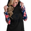 Size XXL New women hooded hedging color code long sleeve women's sweater