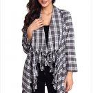 Size S Black Winter new long-sleeved irregular dress plus large cardigan women's coat