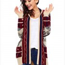 Size L Winter new large cardigan sweater women's long-sleeved Christmas sweater
