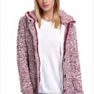 Size XL Rosered New women's knit sweater cardigan long sleeve coat