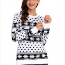 Size M Black Large size sweater round neck womens long-sleeved Christmas sweater