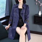Size M Blue Women Brand Design Coat