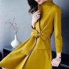 Size S Yellow Women Fashion Coat