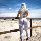 Size M Grey Sports Yoga Women Long Leggings DM1012