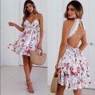 Size S Floral V-neck Floral Mini Sexy Dress DM1024