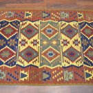 A LARGE OUSHAK HAND KNOTTED WOOL RUG, TURKISH