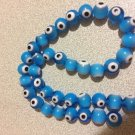30+ BLUE Evil Eye Beads 8mm - GLASS Nazar Beads - Turkish-Style - FREE SHIP