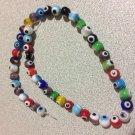 30+ MIXED Evil Eye Beads 8mm - GLASS Nazar Beads - Turkish-Style - FREE SHIP