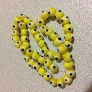 30+ YELLOW Evil Eye Beads 8mm - GLASS Nazar Beads - Turkish-Style - FREE SHIP