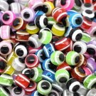Free Shipping 6mm 8mm 10mm Mixed Evil Eye Round Charm Resin Ball Spacer Beads
