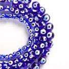 Wholesale 4/6/8/10/12/14mm Turkey blue evil eyes beads glass beads for DIY NAZAR