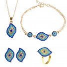 2018 TURKISH OTTOMAN Fashion Crystal Jewelry Sets for Women Evil Eye Necklace