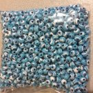 1000pcs BLUE Evil Eye Beads 8mm - Nazar Beads - Turkish Style persian indian