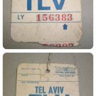 EL AL AIRLINES old ticket for bags  ultra rare collection item