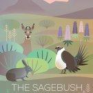 "THE SAGEBRUSH ECO SYSTEM USA Vintage Travel PHOTO FRIDGE MAGNET 2x3 inches 2""x3"""