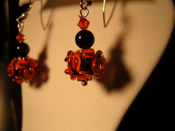 Midnight Coral earrings