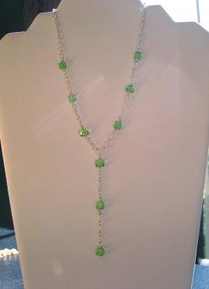 Peridot Y Necklace