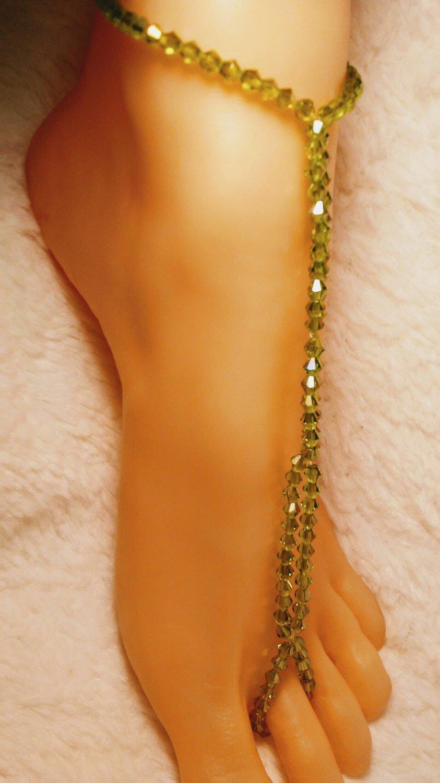 Brazil's Lime Toe Ring Barefoot Sandal Anklet