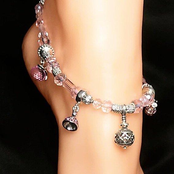 Charmed Pink Blossom Anklet