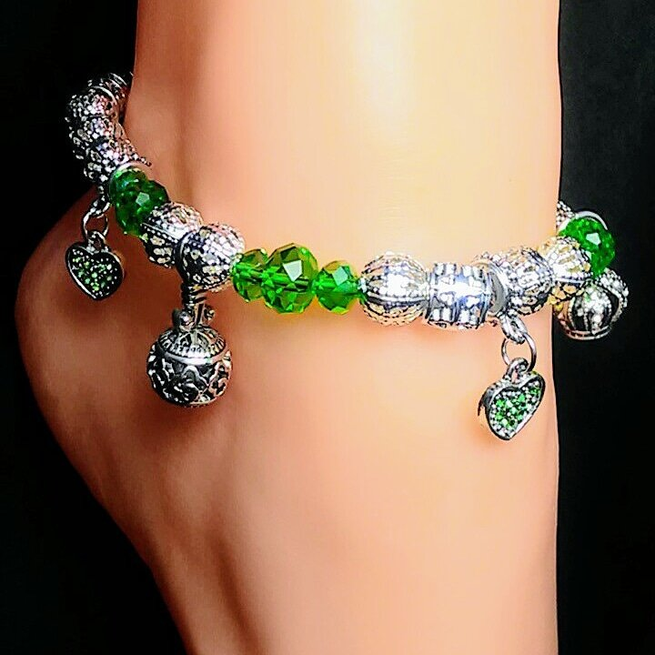 Enchanted Green Charmed Anklet