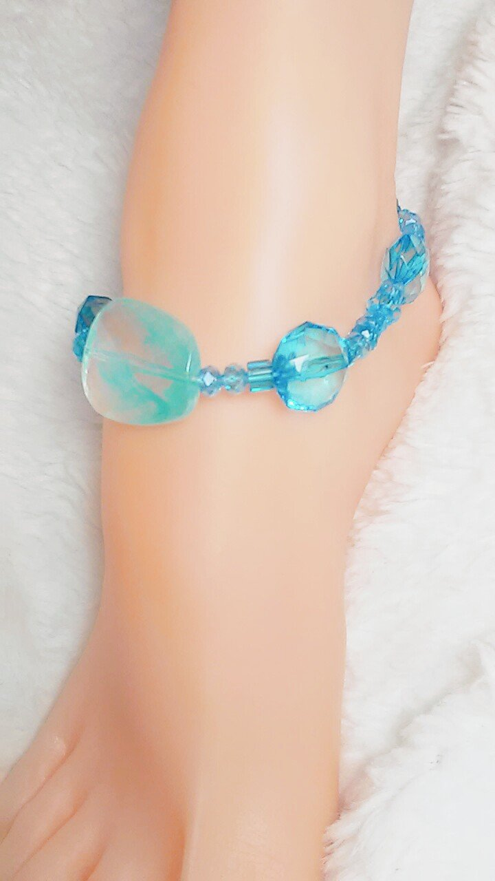 Oceanside Aqua Anklet