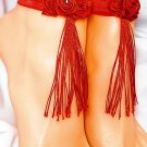 Rose Red Anklets Set of 2